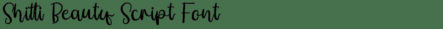 Shitti Beauty Script Font