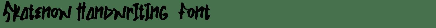 Skatenow Handwriting  Font