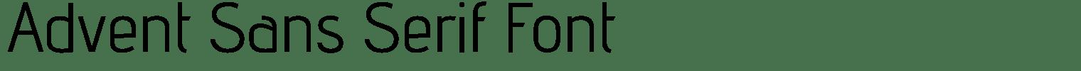 Advent Sans Serif Font