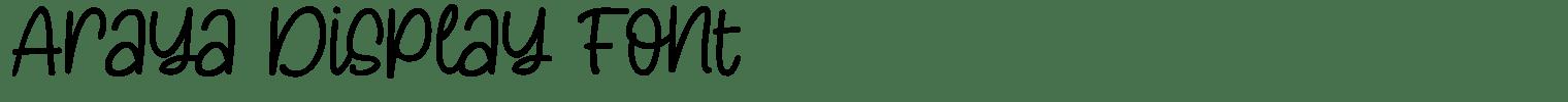 Araya Display Font