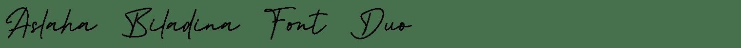 Aslaha Biladina Font Duo