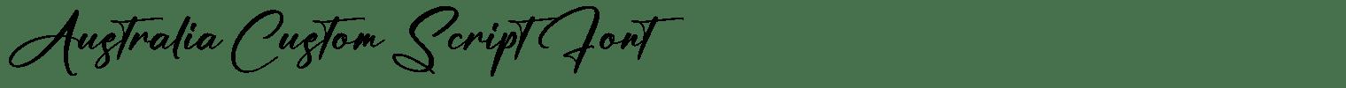 Australia Custom Script Font