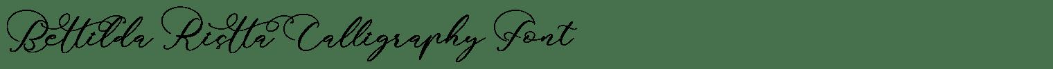 Bettilda Ristta Calligraphy Font