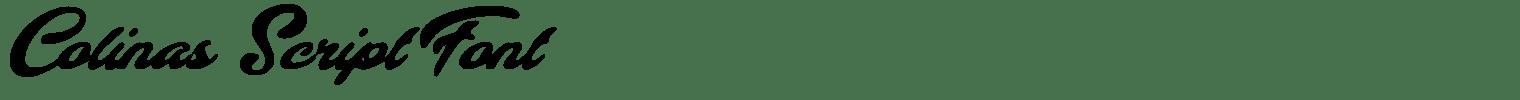 Colinas Script Font