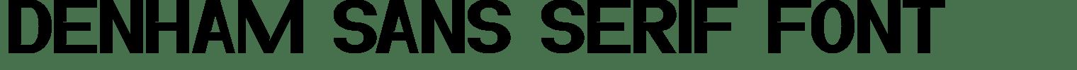 Denham Sans Serif Font