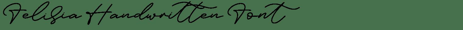 Felisia Handwritten Font