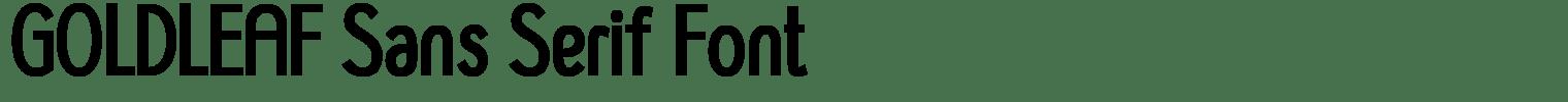GOLDLEAF Sans Serif Font