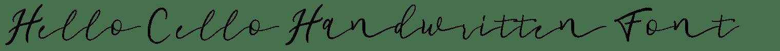 Hello Cello Handwritten Font