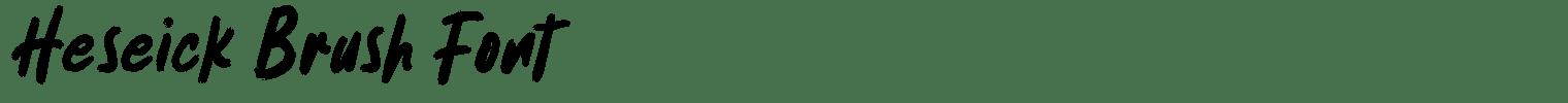 Heseick Brush Font
