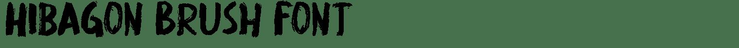 Hibagon Brush Font