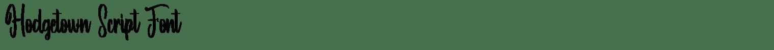 Hodgetown Script Font
