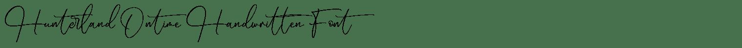 Hunterland Ontime Handwritten Font