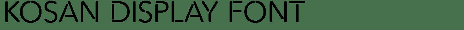 Kosan Display Font