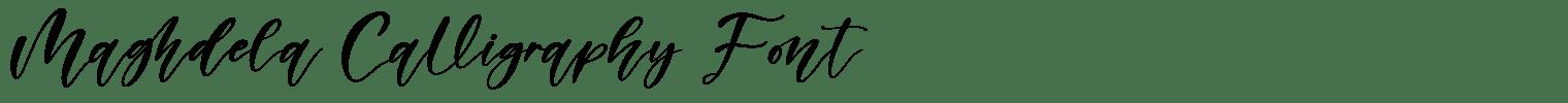 Maghdela Calligraphy Font