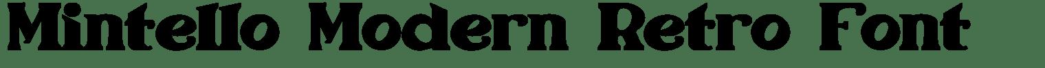 Mintello Modern Retro Font