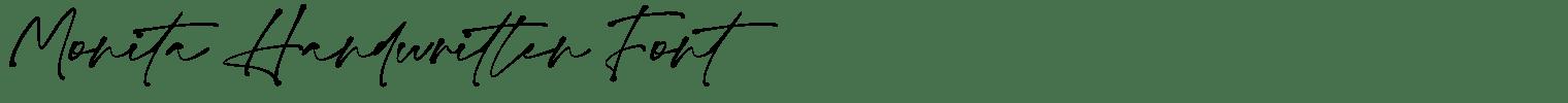 Monita Handwritten Font