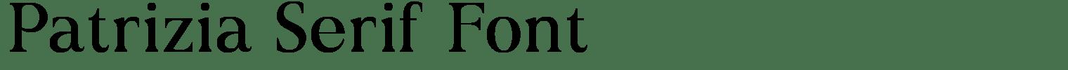 Patrizia Serif Font
