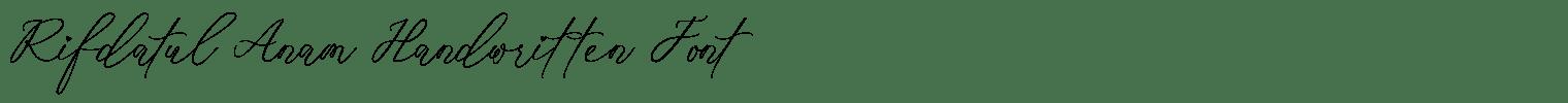 Rifdatul Anam Handwritten Font