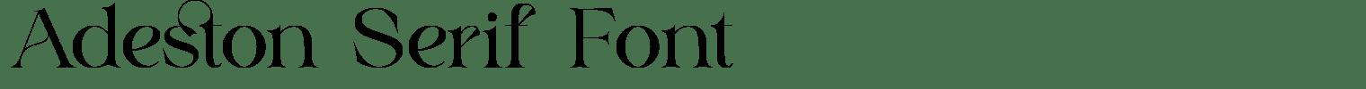 Adeston Serif Font