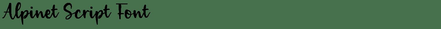 Alpinet Script Font