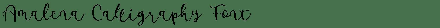 Amalena Calligraphy Font