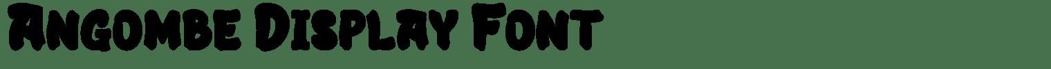 Angombe Display Font