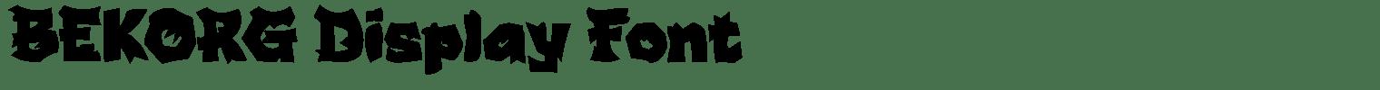 BEKORG Display Font