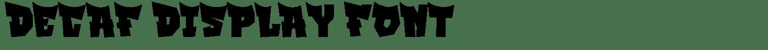 Decaf Display Font