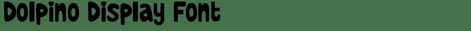 Dolpino Display Font