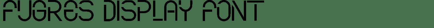 Fugres Display Font