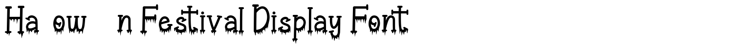 Halloween Festival Display Font