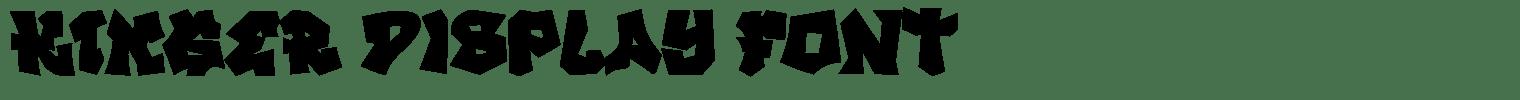 KINGER Display Font