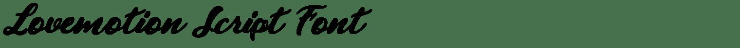Lovemotion Script Font