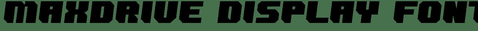 Maxdrive Display Font