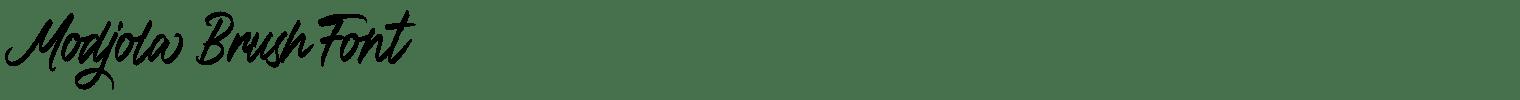 Modjola Brush Font