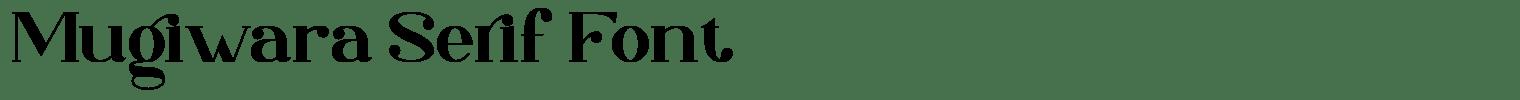 Mugiwara Serif Font