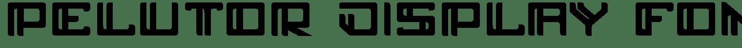 Pelutor Display Font