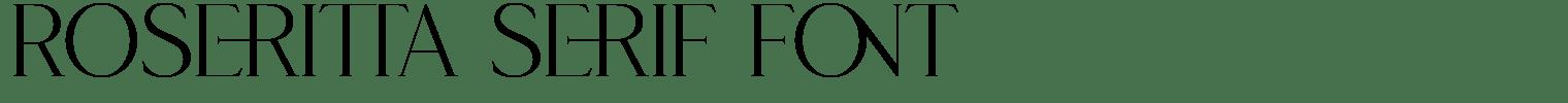 Roseritta Serif Font