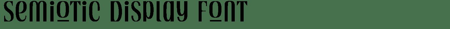 Semiotic Display Font