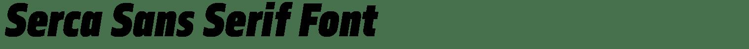 Serca Sans Serif Font
