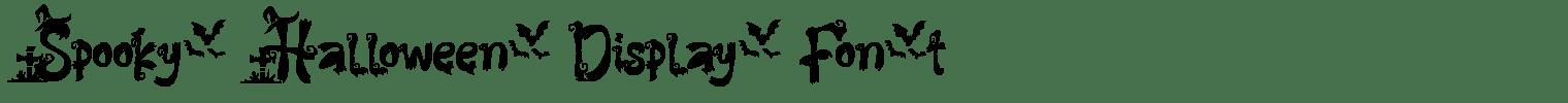 Spooky Halloween Display Font