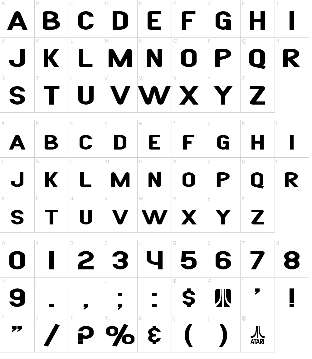 SF Atarian System Font Download