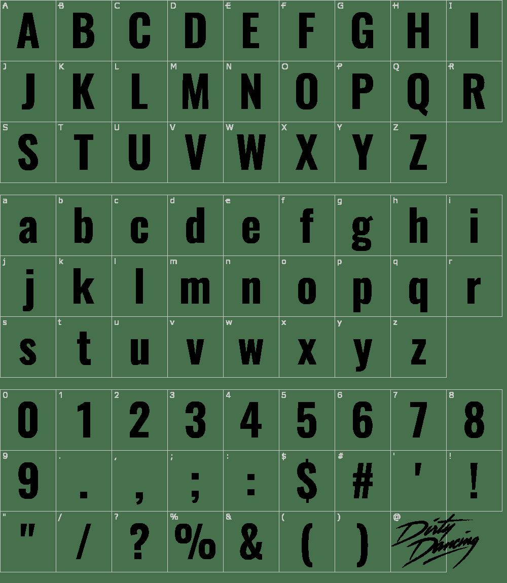 Dirty Dancing Vector Font Download