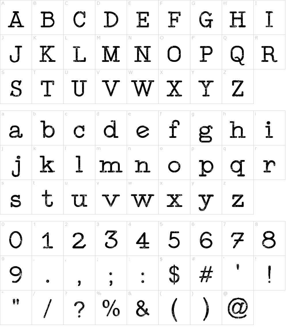 Typewriter Style Font Download