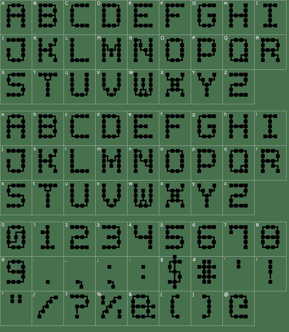 circuit board font generator chess fonts