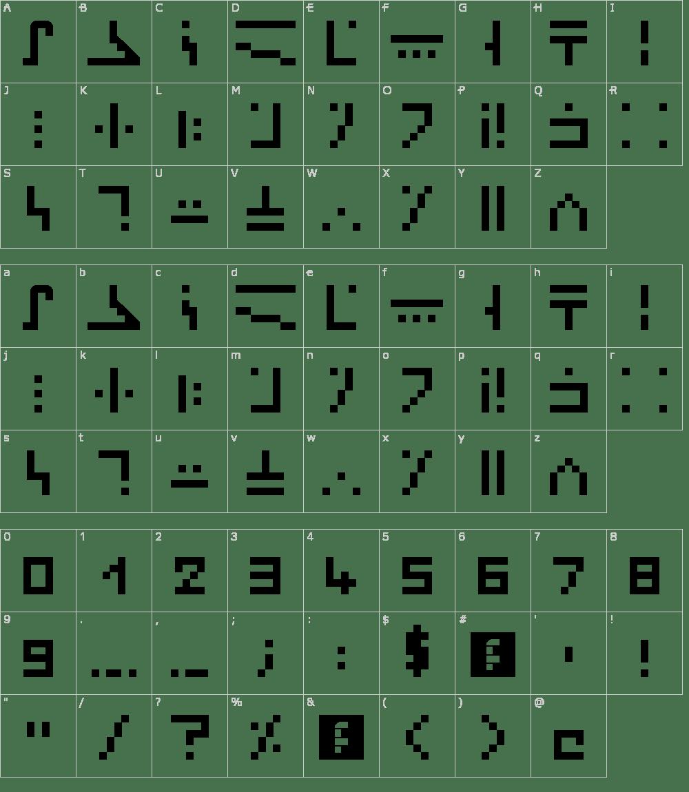 жирный майнкрафт font #10