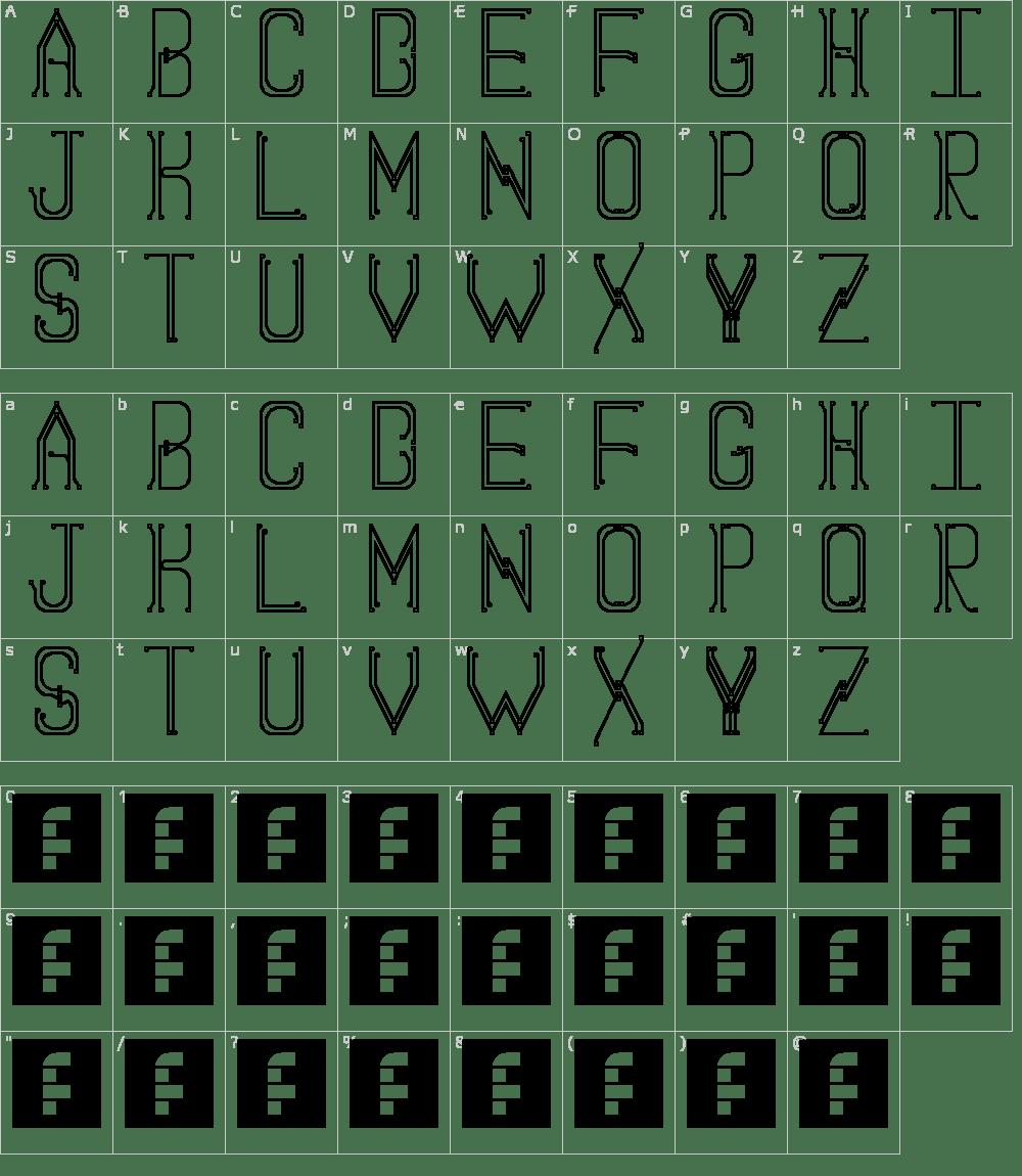 Circuit Board Font Download