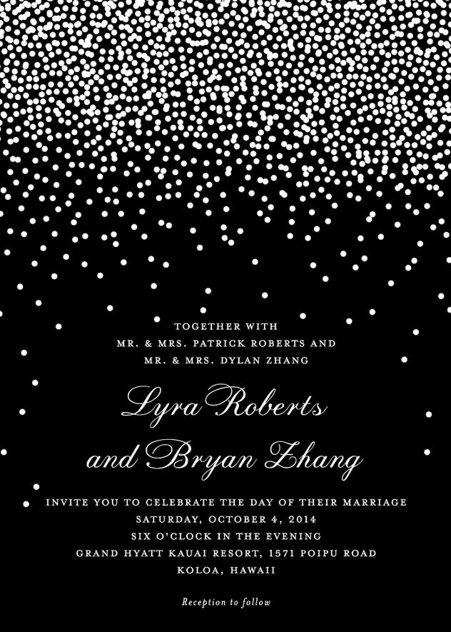 Diamond Sky Wedding Invitation Featuring Prints Charming Font
