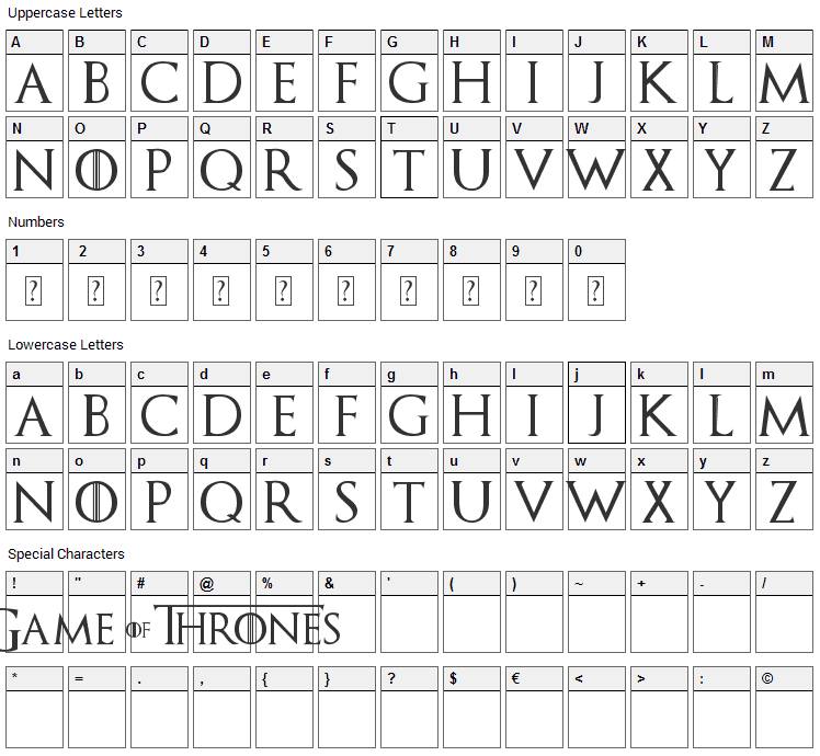 Police D'écriture Game Of Thrones : police, d'écriture, thrones, Thrones, Download, Fonts4Free