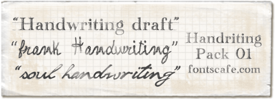 "Download ""Handwriting pack 01"" fonts 